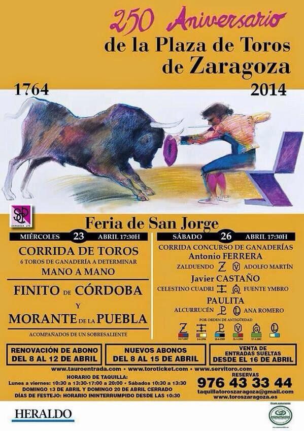 cartel san jorge ZARAGOZA 2014