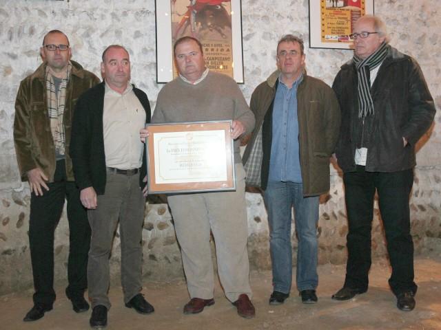 """De gauche à droite : Jacky Boyer, Patrick Colléoni """"Paco"""", Rafael Buendia, Dominique Dubois et Christian Cartoux."""