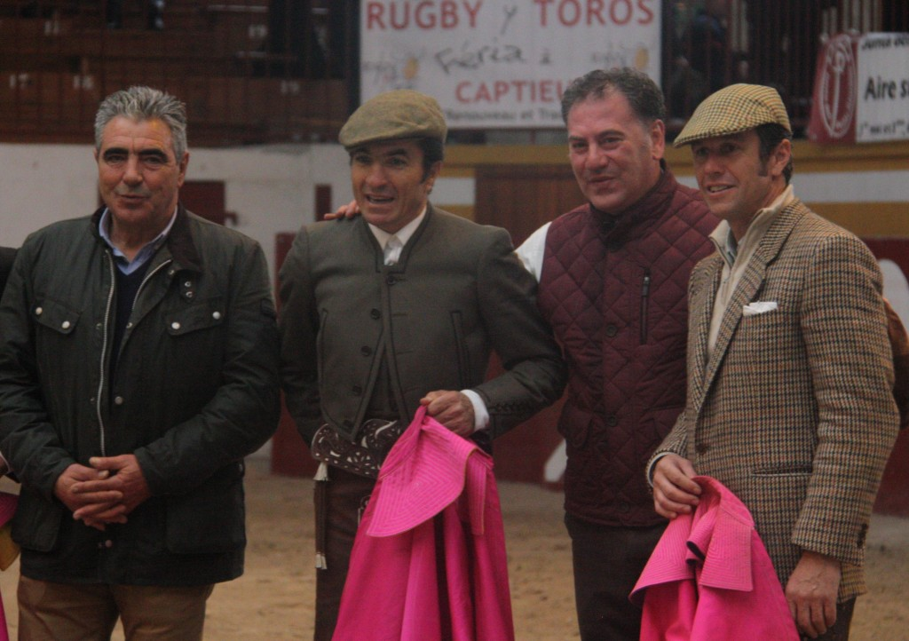 De gauche à droite, José Angel Santafé Marton, El Fundi, El Bote et Joselito.