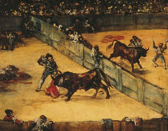 """Francisco de Goya : """" l'Arène divisée"""""""