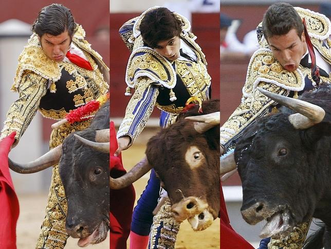 Morante de la Puebla, Sébastien Castella et José María Manzanares.