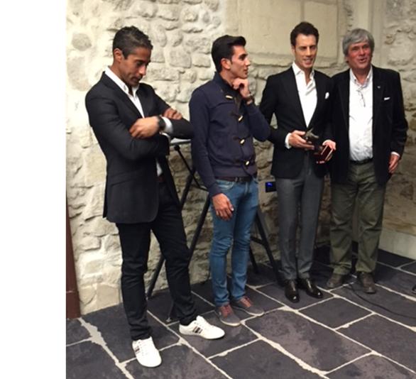 De gauche à droite : Mehdi Savalli, Daniel Soto, Finito de Cordoba et René Dagand