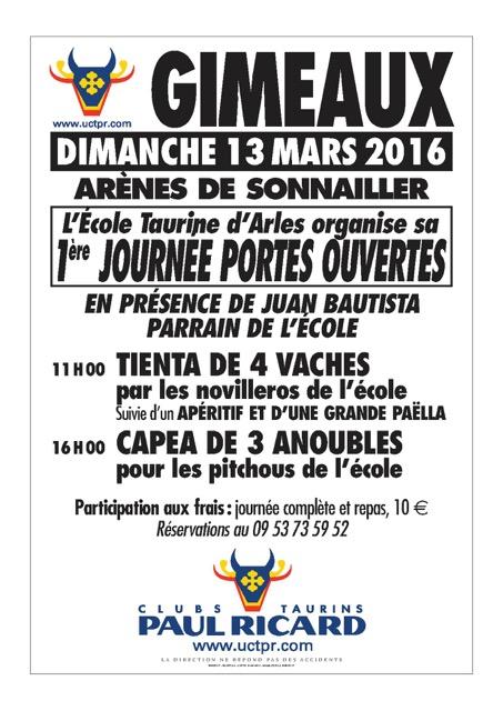 Affiche journée portes ouvertes 13 mars