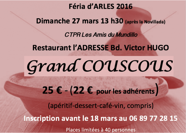 Arles repas avec les amis du mundillo for Repas avec amis