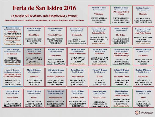 Madrid 2016-2