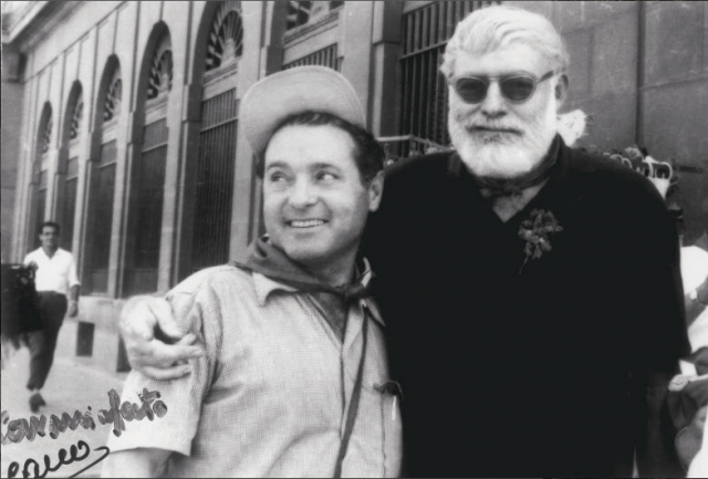 Francisco Cano avec Ernest Hemingway