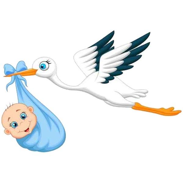 Cigogne Et Bébé sticker-bebe-et-cigogne