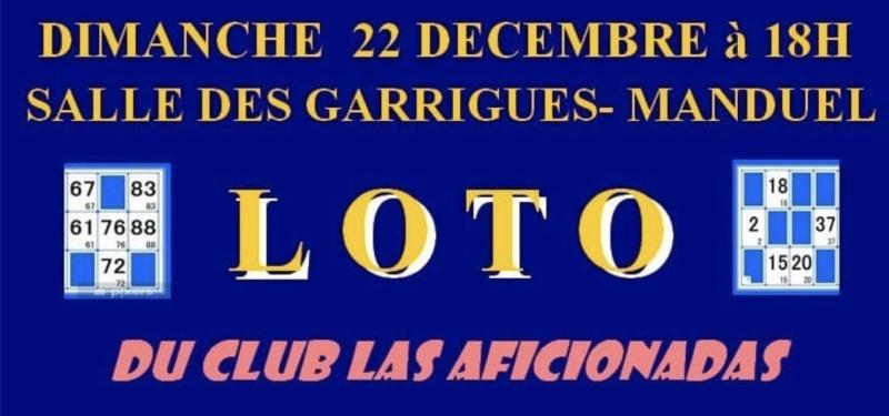Manduel (30). Loto du Club Taurin Las Aficionadas.