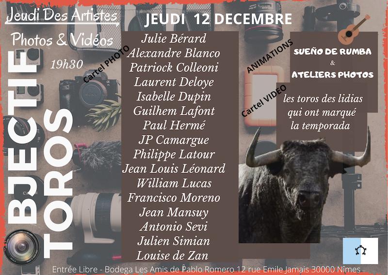 Nîmes. Photos et vidéos pour le dernier Jeudi des Artistes de l'année.