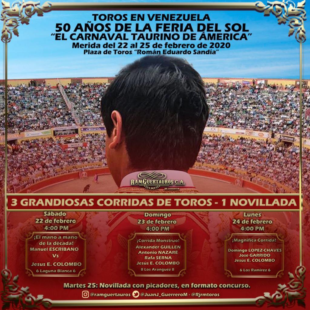 Vénézuéla. Les cartels de la 50ème Feria del Sol de Mérida.