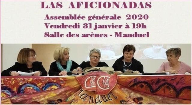 Manduel. AG de la Peña Las Aficionadas.