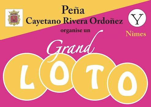 Nîmes. Loto de la Peña Cayetano Rivera Ordoñez.