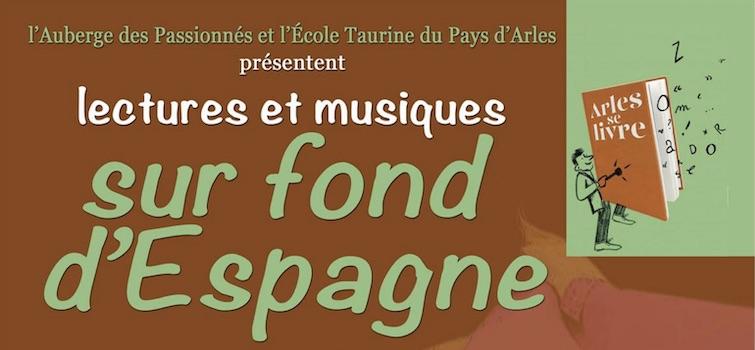 """""""Sur fond d'Espagne"""" dans le cadre du festival """"Arles se livre""""."""