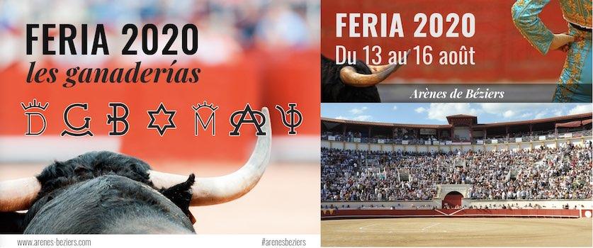 Béziers. Les ganaderias pour la Feria 2020.