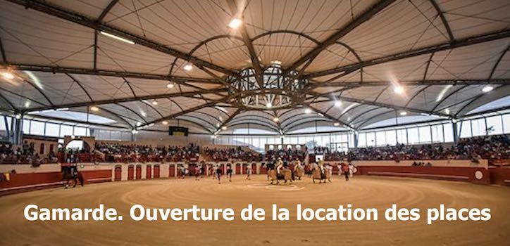 Gamarde. Location des places pour la corrida.
