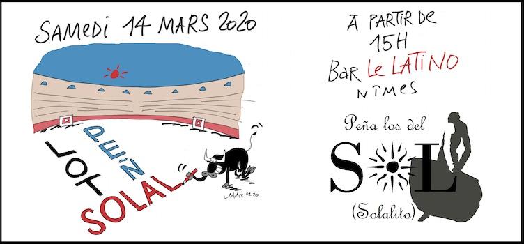 """Nîmes. Loto de la Peña """"Los del Sol - Solalito""""."""
