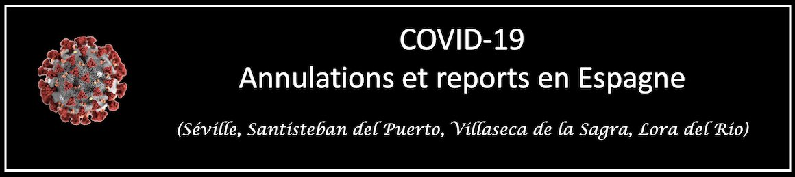 COVID-19. Annulations et reports en Espagne.