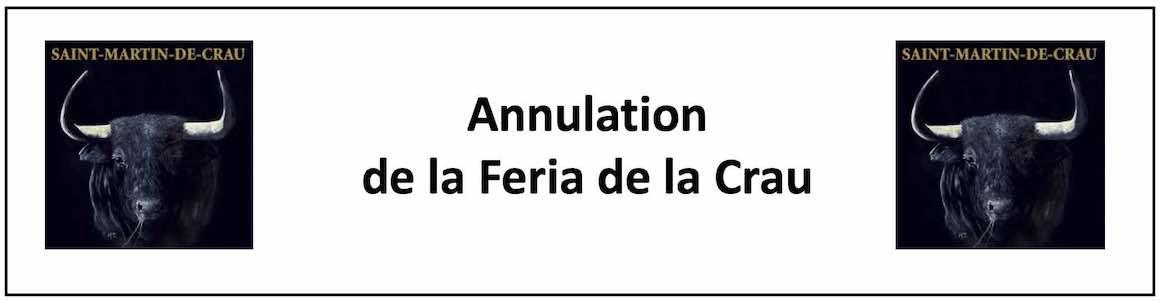 Annulation de la Feria de la Crau.