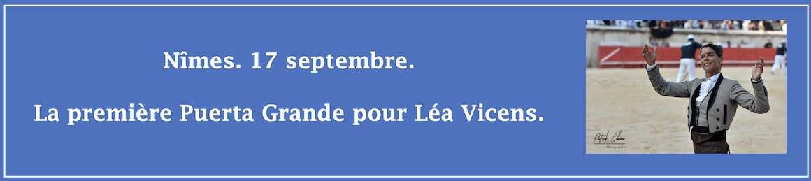 Nîmes. 17 septembre. La première Puerta Grande pour Léa Vicens.