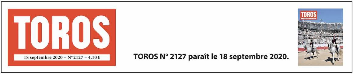 TOROS n° 2127 arrive en kiosque.