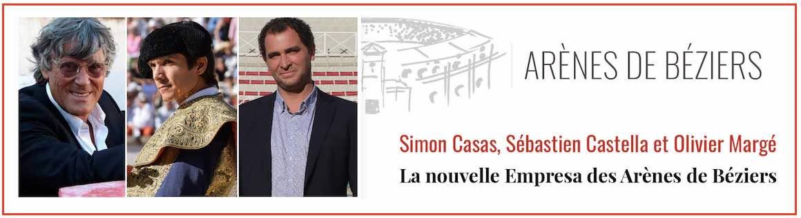 Béziers. Nouveau trio Casas-Castella-Margé à la tête des arènes.