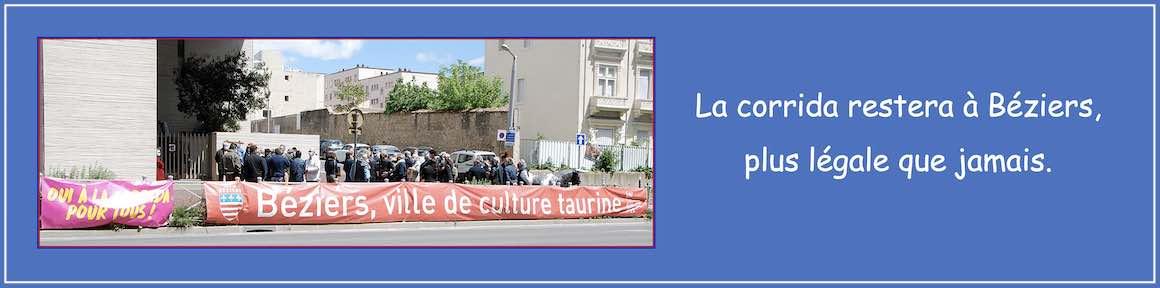 La corrida restera à Béziers, plus légale que jamais.